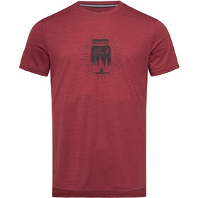 super.natural Graphic Camiseta Hombre, cabernet melange/jet black